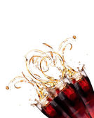 Fresh coke background with splash — Stock Photo