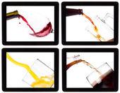 Raccolta di alcool su un schermo digitale tablet — Foto Stock