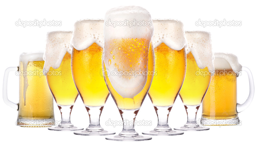 Frosty glass of light beer isolated on a white background  Stockfoto #13511672