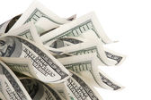 Background with money american hundred dollar bills — Stockfoto