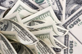 Background with money american hundred dollar bills — Foto Stock