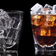 Set of Fresh cola drink with ice — Foto Stock