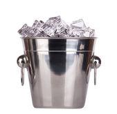 Ice bucket isolated — Stock Photo
