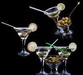 Fresh cocktail set on the black — Stock Photo