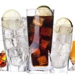 diferentes imágenes de alcohol aislado — Foto de Stock   #17876453