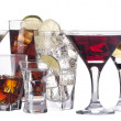 Different images of alcohol isolated — Stock Photo #17887369