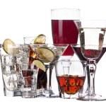 verschiedene Bilder von Alkohol isoliert — Stockfoto #18008795