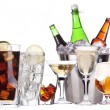 Different images of alcohol set isolated — Stock Photo #18037089