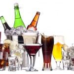 farklı görüntü izole alkol seti — Stok fotoğraf