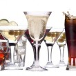 Different images of alcohol isolated — Stock Photo #18260175