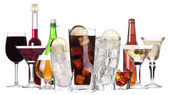 Diferentes imágenes de alcohol aislado — Foto de Stock