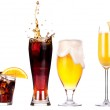 Collection of different images of alcohol isolated — Stock Photo