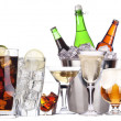 Stock Photo: Different images of alcohol isolated