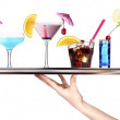 Tray full of alcohol. celebration concept — Foto Stock