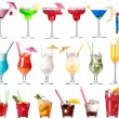 Set of alcoholic cocktails isolated — Stock Photo #22351691