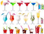 Set of alcoholic cocktails isolated — Stock Photo
