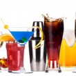 Different alcohol drinks set — Stockfoto #22521017