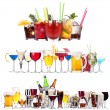 Set of different alcoholic drinks and cocktails — Stock Photo #22625491