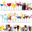 Set of different alcoholic drinks and cocktails — Foto Stock