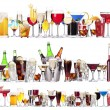 Set of different alcoholic drinks and cocktails — Stock Photo