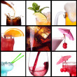 Collage with alcohol cocktails — Stock Photo #22742383
