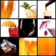 Royalty-Free Stock Photo: Collage with alcohol cocktails