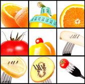 Композиция с овощами и фруктами — Стоковое фото