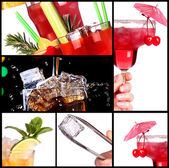 Set of alcoholic cocktails — Stock Photo