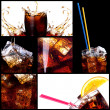 Stock Photo: Fresh cola background with splash