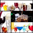 Set of alcoholic cocktails - Stock Photo