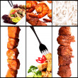 Collection of different meat dishes — Stock Photo
