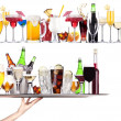 Set of different alcoholic drinks and cocktails — Foto de Stock