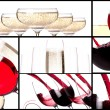 Red splashing wine set — Foto de Stock