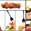 Royalty-Free Stock Photo: Collection of different meat dishes