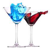 Cóctel alcohólico set splash — Foto de Stock