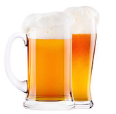 Frosty fresh beer with foam — Stock Photo