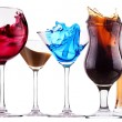 Alcoholic cocktail set splash — Stock Photo #23919571