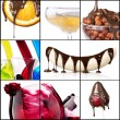 Tasty desserts and fresh drinks collage — Stock Photo #24549619