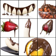 collage de savoureux desserts — Photo