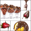 图库照片: Tasty dessert collage