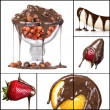 collage di gustosi dessert — Foto Stock