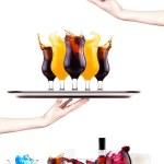 farklı alkollü içecekler ve kokteyller — Stok fotoğraf #24781645
