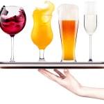 分離されたアルコールの別のイメージのコレクション — ストック写真