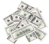 Fond avec des dollars américains d'argent — Photo