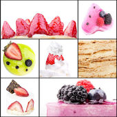 Collage of tasty desserts — Stock Photo