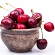 Sweet cherry macro background - Zdjęcie stockowe