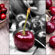 Stock Photo: Cherries with water drops set