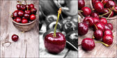 Cherries with water drops set — Stock Photo