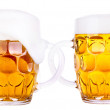 Foto Stock: Frosty glass of light beer isolated