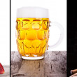 Collage witn coctail, wine and beer — 图库照片